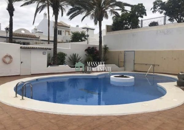 FOR RENT - Equipped apartment of 48 m2 in Playa Paraíso, on the ground floor of the residential complex El Cielo.