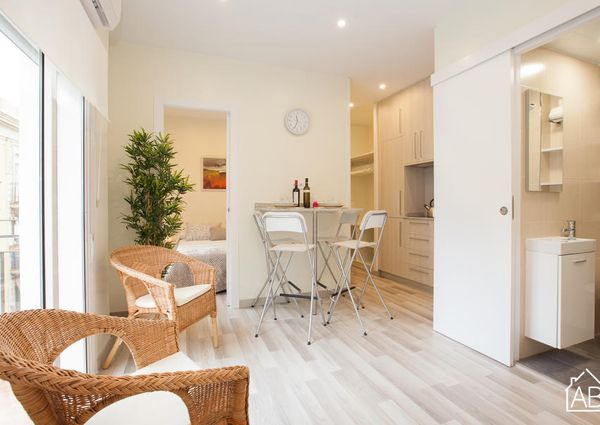 Bright, two-bedroom apartment in the Barceloneta area