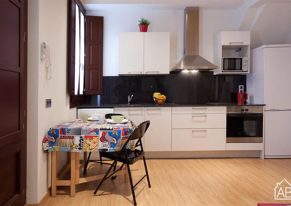 Fantastic Barcelona apartment for four people in sunny Barceloneta