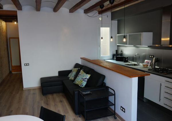 Modern and spacious three-bedroom apartment for 6 guests in Poble Sec