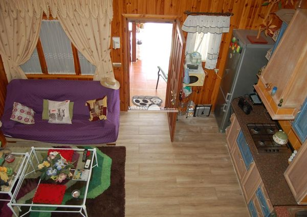 House constructed of wood for rent in Nerja, Málaga, Spain