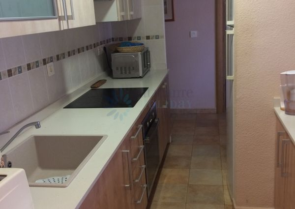 Beauty aparment os 2 bedroooms and 1 bathroom located in Playa Lisa of Santa Pola to rent.